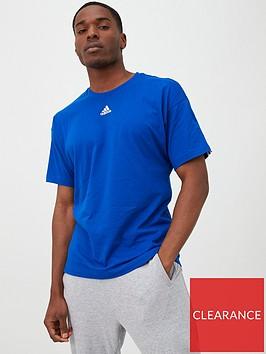 adidas-3-stripe-centre-logo-t-shirt-blue