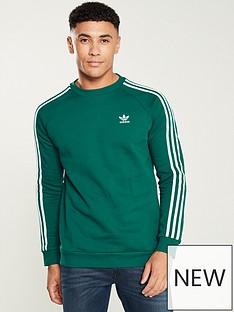 adidas-originals-3-stripe-crew-neck-sweat-greennbsp