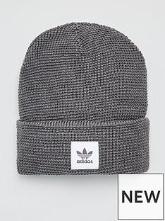 adidas-originals-waffle-cuff-knit-beanie-grey
