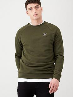 adidas-originals-essential-crew-sweat-khaki