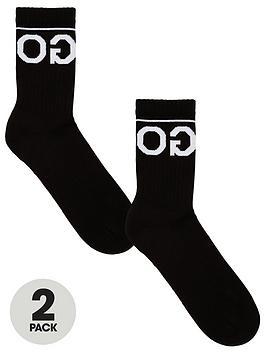 hugo-2-pack-reverse-large-logo-socks