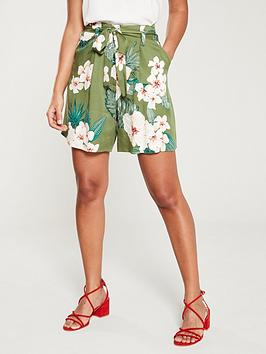 v-by-very-olive-tropical-short-print