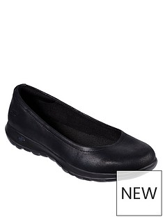 9f1d6069082c Skechers GOwalk Lite Gem Ballerina Shoes - Black