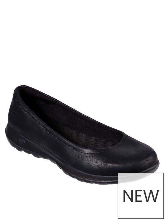 b0e05201 Skechers GOwalk Lite Gem Ballerina Shoes - Black | very.co.uk