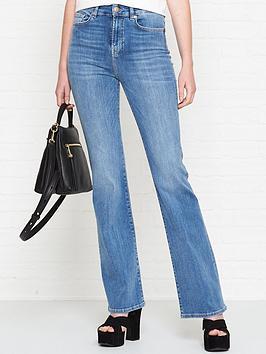 7 for all mankind lisha high rise slim illusion flare leg jeans - heartfelt