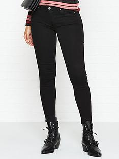 f9680b6248851e 7 FOR ALL MANKIND Bair Mid Rise Crop Skinny Jeans - Rinsed Black