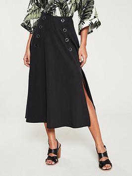 v-by-very-button-front-split-skirt-black
