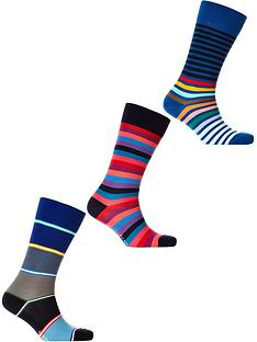 ps-paul-smith-mens-3-pack-mixed-stripe-socksnbsp--blue