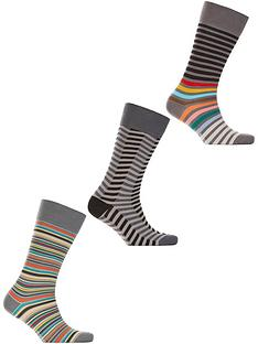 ps-paul-smith-mens-3-pack-striped-socksnbsp--grey
