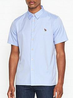 ps-paul-smith-zebra-logo-short-sleeve-oxford-shirt-blue