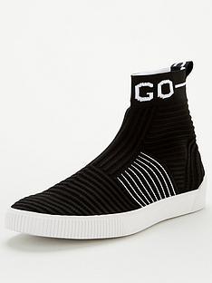 hugo-zero-high-top-knitted-sock-trainers-black