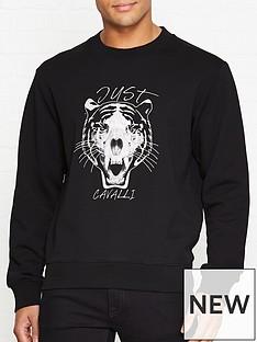 just-cavalli-tiger-skull-embroidered-sweatshirt-black