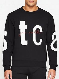 just-cavalli-logonbspprint-sweatshirt-black