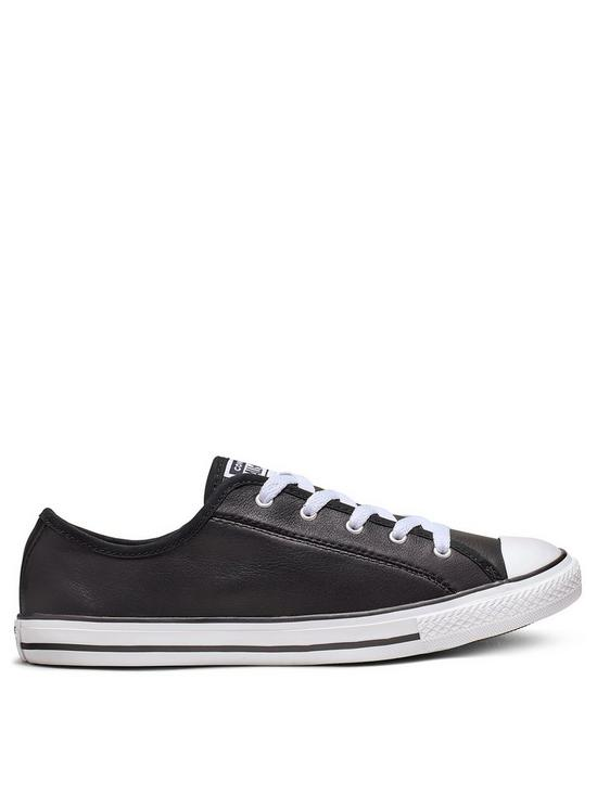 Really Converse Black Chuck Taylor All Star Leather Dainty