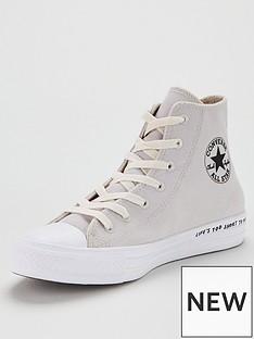 66a787fa4c2 Converse Chuck Taylor All Star Renew Recycle Hi - Grey/White