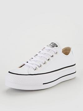 Converse Chuck Taylor All Star Platform Lift Clean Leather Ox - White