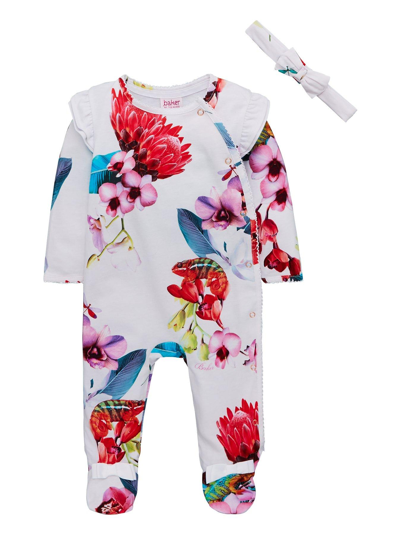 floral Low Price Creative Monsoon Girls Romper Sleepsuit 0-3 Months