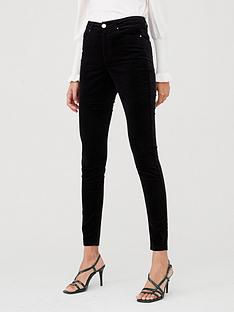 v-by-very-velour-skinny-trouser-black