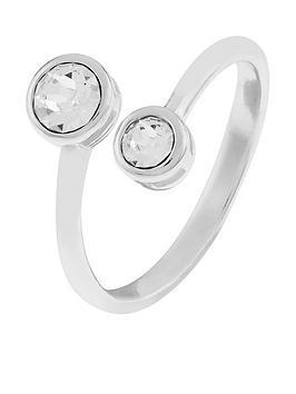accessorize-sterling-silver-swarovskireg-droplet-ring-silver