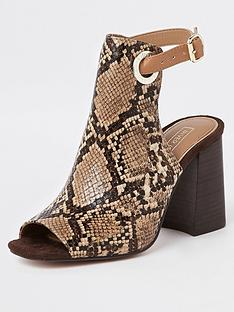 1ce37c3299a47 River Island River Island Animal Print Shoeboot - Beige