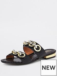 river-island-river-island-chain-double-strap-sandal-black