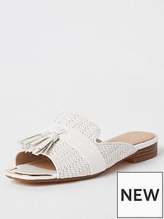 river-island-river-island-peep-toe-tassel-sandals-white
