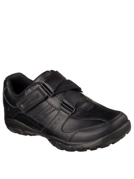 skechers-lightweight-grambler-strap-school-shoes-black