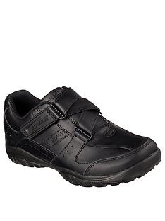 skechers-lightweight-grambler-strap-school-shoes-black