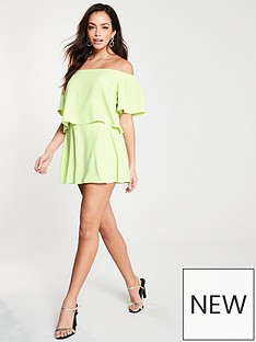 cd9571dda12 River Island Layered Playsuit- Lime
