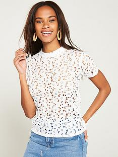 v-by-very-lace-boxy-tee-white