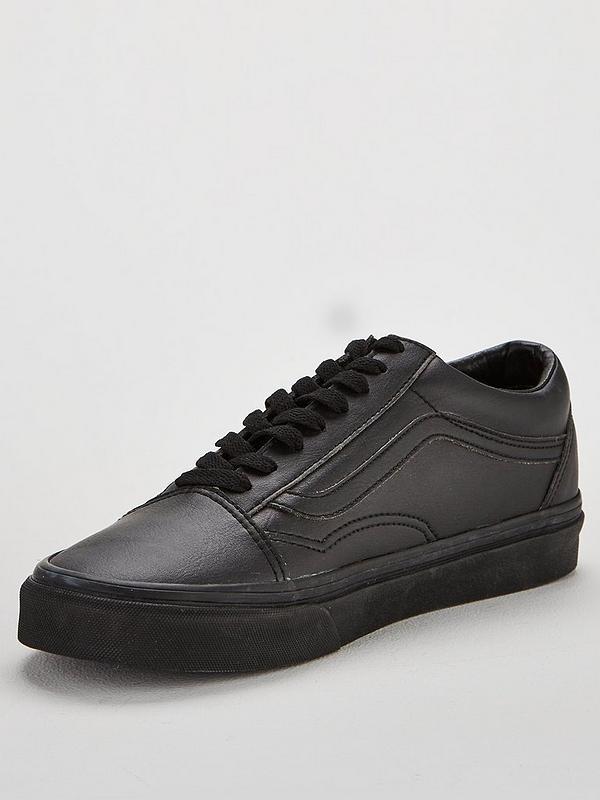 run shoes san francisco super cheap Leather Old Skool - Black