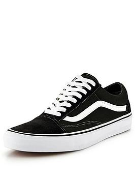 Vans Old Skool - Black/White , Black/White, Size 7, Women|7