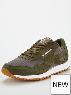 reebok-classic-nylon-ripple-trainers-green