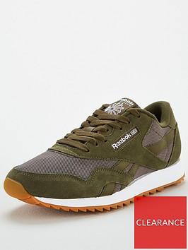 reebok-classic-nylon-ripple-trainers-green