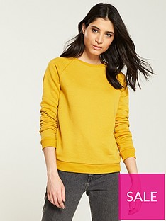 v-by-very-loop-back-basic-sweat-mustard