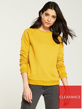 v-by-very-loop-back-basic-sweat-mustard