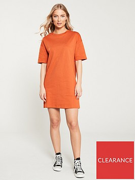 v-by-very-oversized-tee-dress-rust