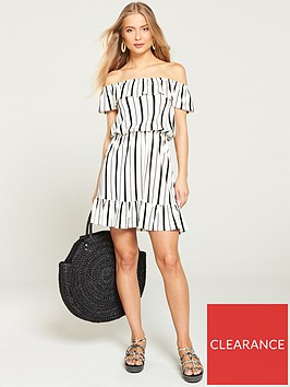 v-by-very-bardot-jersey-mini-frill-dress-stripe