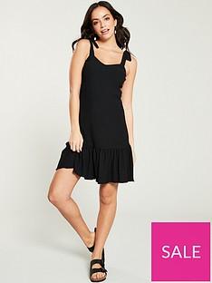 v-by-very-textured-jersey-mini-dress-black
