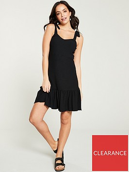 v-by-very-textured-jersey-mini-dress-black