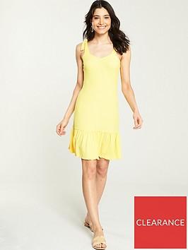 v-by-very-textured-jersey-summer-dress-lemon