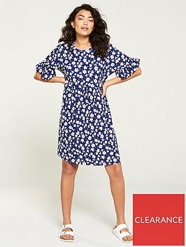 v-by-very-oversized-jersey-frill-sleeve-mini-dress-blue-floral