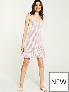 v-by-very-textured-jersey-stripe-summer-dress-redwhite