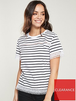 v-by-very-lace-trim-tee-stripe