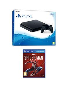 playstation-4-ps4nbspwith-marvels-spider-man-and-optional-extras--nbsp500gb-console