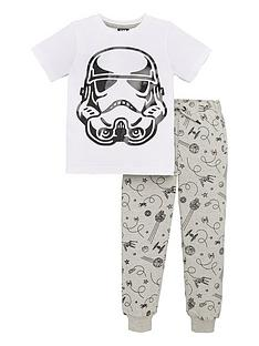 star-wars-boys-2-piece-short-sleeve-storm-trooper-sequin-t-shirt-and-joggers-set-whiteblack