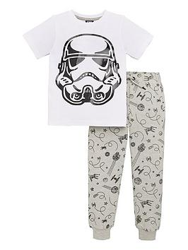 star-wars-boys-2-piece-short-sleeve-storm-trooper-sequin-t-shirt-and-joggers-set-whiteblack