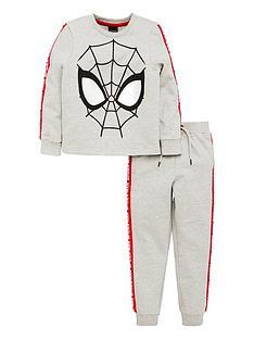 spiderman-boys-long-sleeve-jersey-top-amp-jogger-set-grey