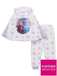 disney-frozen-girls-3-piece-cosy-snowflake-poncho-and-pyjama-set-multi