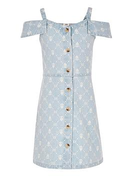 river-island-girls-blue-ri-monogram-denim-pinafore-dress